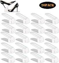 YIHATA Shoe Slots Organizer,Shoe Rack Adjustable Shoe Stacker Space Saver,Double Deck Shoe Rack Holder for Closet Organiza...