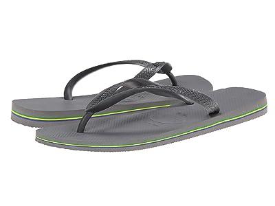 Havaianas Brazil Flip Flops (Steel Grey) Men
