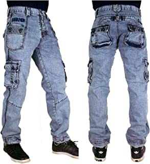 c13b8df799e821 Peviani Combat Bleached Straight Mens Jeans, G Denim Urban Star Hip Hop  Appleport