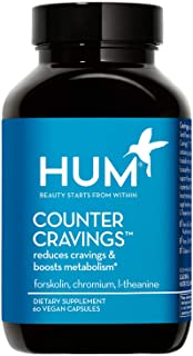 HUM Counter Cravings - Helps Reduce Cravings & Boosts Metabolism - Caffeine-Free with Forskolin, Chromium & L-Theanine to ...