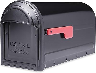 Architectural Mailboxes 7900-1B-R-10 Barrington Postmount Mailbox, Large, Black