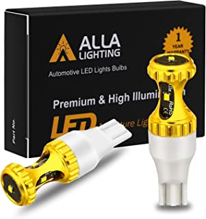 Alla Lighting 3000lm ZES 912 921 LED Reverse Lights Bulbs Xtreme Super Bright 12V SMD T10 T15 906 W16W LED Back-Up Light, 6000K Xenon White