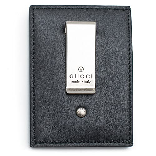 f70cb52b73bf96 Gucci XL Embossed Black Wallet Money Clip Leather Mens Gift Xmas Italy New  Box