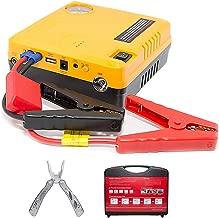 Car Jump Starter Air Compressor Pump 600A Phone power bank charger & Air Pump USB Ports Portable 16800 mAh start a 6.0 L gas engine or 5.0 L diesel engine Tire Inflator Bonus Multi tool