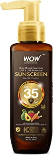 WOW Skin Science Sunscreen Matte Finish - SPF 35 PA++ - Daily Broad Spectrum - UVA &UVB Protection - Quick Absorb - for Al...