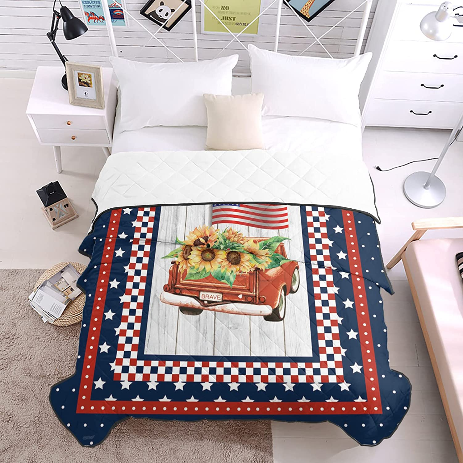 DecorLovee Bedding Duvets Red Max 43% OFF Car Classic Sunflowers All Carries Season