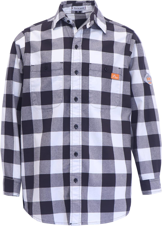 Titicaca FR Shirt Flame Resistant Work Shirt Men's Cotton 7.5oz Welding Shirt
