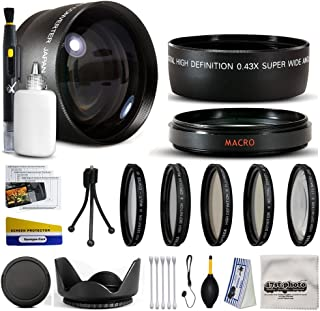 10 Piece Ultimate Lens Package For the Sony Alpha A33 A35 A55 A65 A580 A99 A37 A77 A37 A5000 DSLR-A900 DSLR-A65 DSLR-A77 A100 A700 A350 A200 A300 A350 A290 A330 A330L A390 A390L NEX-7 NEX-3N Includes .43x High Definition II Wide Angle Panoramic Macro Fisheye Lens + 2.2x Extreme High Definition AF Telephoto Lens + Professional 5 Piece Filter Kit (UV, CPL, FL, ND4 and 10x Macro Lens) + Flower Lens Hood + ring adapter + Deluxe Lens Cleaning Kit + LCD Screen Protectors + Mini Tripod + 47stphoto