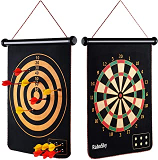 Rabosky Magnetic Dart Board for Kids - 12pcs Magnetic Darts - Hottest Toys for Christmas 2019 for Family and 5 6 7 8 9 Year Old Boys