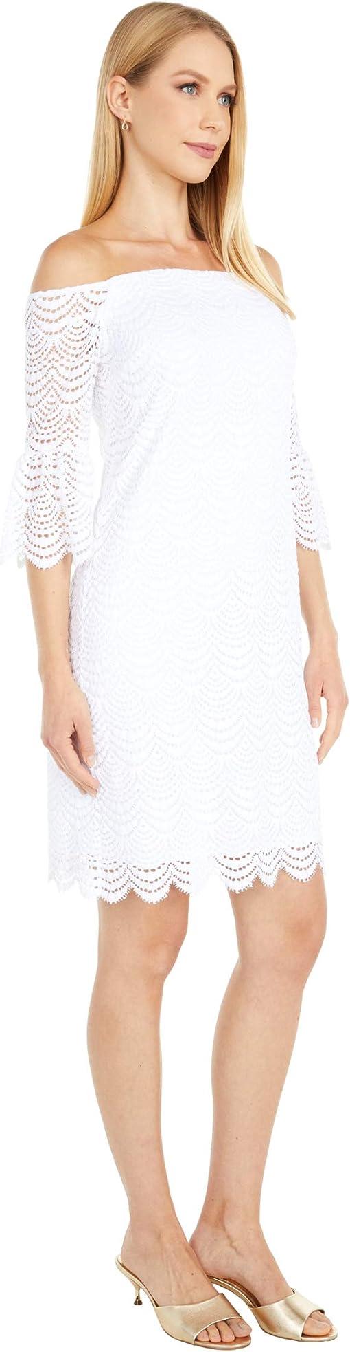 Resort White Scalloped Shell Lace