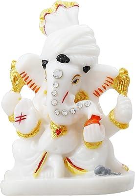 FFC-Marble Lord Small Ganesha Idol Statue Gift Item Showpiece