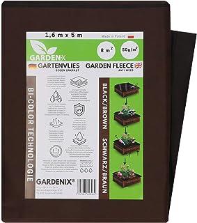 GARDENIX® 8 m² Double Face Marron/Noir Polaire de Protection Contre Les Mauvaises Herbes en Non-tissé résistant aux déchir...