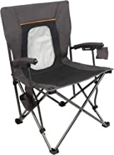 PORTAL Camping Chair Folding Portable Quad Mesh Back with Cup Holder Pocket and Hard..