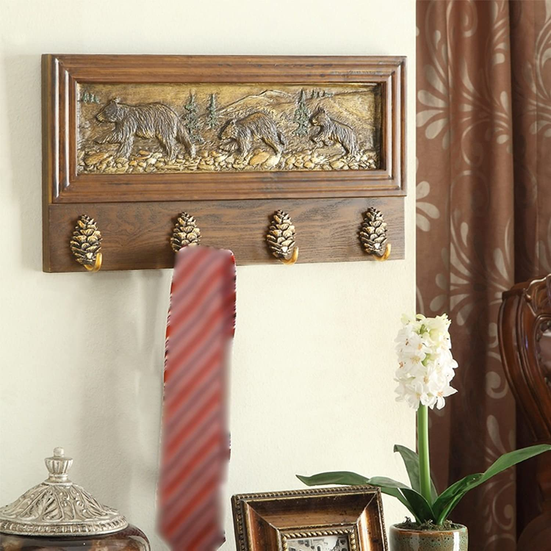 TIANTA- American Solid Wood Coat Rack, Wall-Mounted Hanger, Bedroom Living Room Shelves, Clothes Racks Home Furnishing (Size   51626cm)