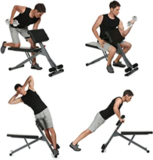 shaofu Adjustable Ab Bench Multi Roman Chair Incline/Decline Sit Up Bench Abdominal Bench for Home Gym Office (US Stock)