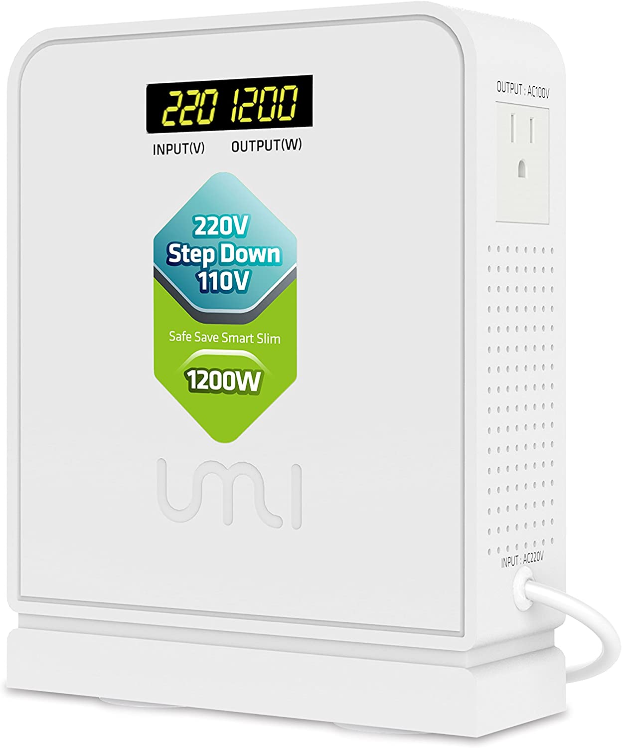 UMI 220V to 110V Step Down Voltage Converter 1200Watts Continuous Full Load Capacity