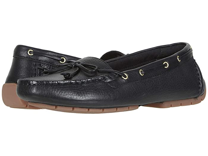 Clarks  C Mocc Boat (Black Leather) Womens Shoes