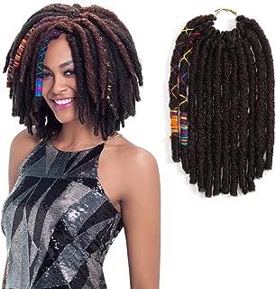 FASHION IDOL 12 Inch Goddess Locs Crochet Hair Pre-looped Faux Locs Crochet Dark Wine Straight Twist Dreadlocks Kanekalon Crochet Braids Hair Extensions For Black Women 6 Packs (99J)