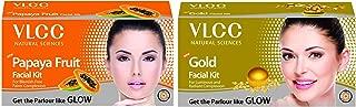 VLCC Papaya Fruit Facial Kit, 60g and VLCC Gold Facial Kit, 60g