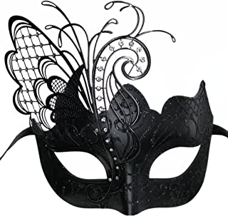 black butterfly masquerade mask