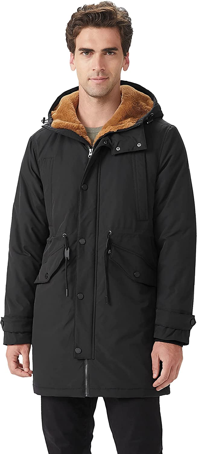Orolay Men's Thicken Fleece Lined Parka Winter Coat Hooded Jacket with Pockets