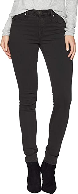 Nico Mid-Rise Skinny Jeans in Distressed Graphite