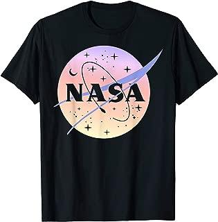 NASA Logo Pastel Light Color Fade Graphic T-Shirt