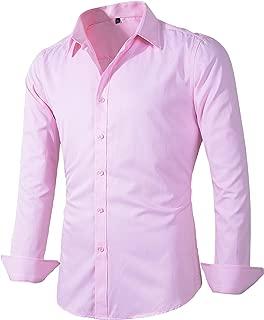 Benibos Men's Dress Shirt Fitted Poplin Solid