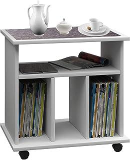VCM Valenza Torre para CD/DVD para 300 CDs, Madera, Blanco, 59x60x45 cm