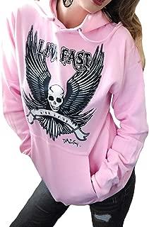 Sexy Pullover Biker Hoodie Skull Angel Wings Motorcycle Graphic Hooded Sweatshirt Top