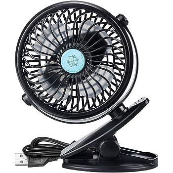 IREENUO Mini Fan Clip 2600mAh Ventilador de Escritorio USB ...