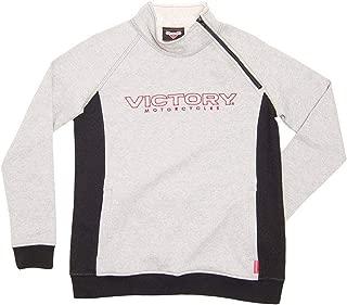 Victory Motorcycle New OEM Half Zip Women's Sweatshirt White/Black XL, 286365109