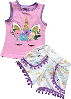 Little Girls 3 Pieces Set Thanksgiving Christmas Outfit Top Tunic Scarf Pant Set