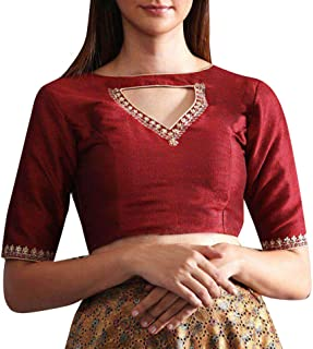 Women's Readymade Designer Party Wear Bollywood Indian Style Padded Blouse for Saree Crop Top Choli