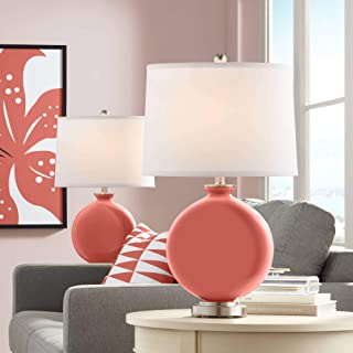 Coral Reef Carrie Table Lamp Set of 2 - Color + Plus