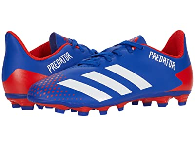 adidas Kids Predator 20.4 FxG J Soccer (Little Kid/Big Kid) (Team Royal Blue/White/Active Red) Kids Shoes