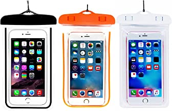 (3Pack) Universal Waterproof Phone Case, CaseHQ IPX 8 Waterproof Phone Pouch Dry Bag Neck Strap for iPhone X/8 Plus/8/7/6S Plus, Samsung Galaxy S9,S8 S8 Plus, up to 6.0
