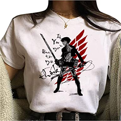Camiseta Attack On Titan, Camiseta Anime 3D Shingeki No Kyojin Scout Regiment Levi·Ackerman Anime Cosplay T-Shirt Casuale Manga Corta Ropa Camisa ...