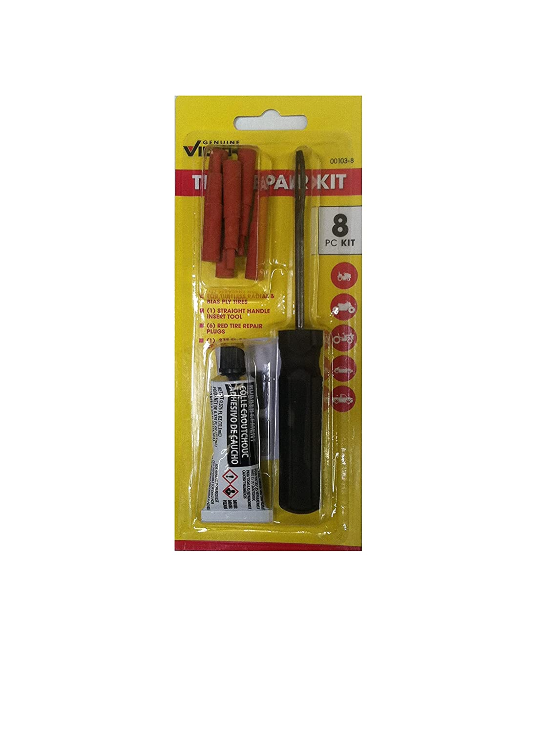 Victor Tire Repair Kit For Tubeless Houston Mall Tires Pieces Count 8 1 Many popular brands