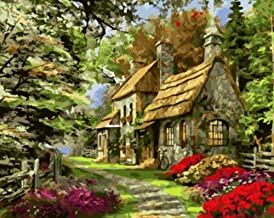 JHCT Canvas Art Landscape Pictures Painting by Numbers Painting and Calligraphy Coloring by Numbers On Canvas-40X50Cmx1 Pcs No Frame