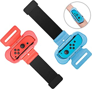 Wrist Bands for Just Dance 2020 2019 and Zumba Burn It Up for Nintendo Switch Controller Game, Adjustable Elastic Strap fo...