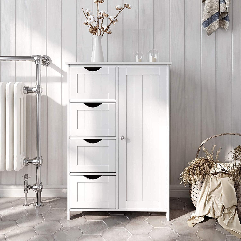 Daily bargain sale MTFY Bathroom Floor Cabinet Wooden Organizer Side Cabin Storage security