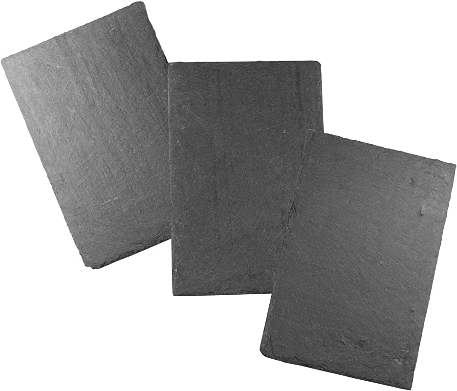 Cohas Slate Food And Cheese Platter Or Art Board Includes 3 Medium 8 By 12 Inch Boards Undrilled Gray Slate