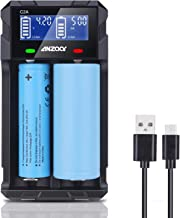 Speedy Universal Smart Battery Charger, Anzaar C2A LCD Display Quick USB Charge for Rechargeable Batteries AA AAA SC, 18650 26650 26500 22650 18490 17670 Batteries