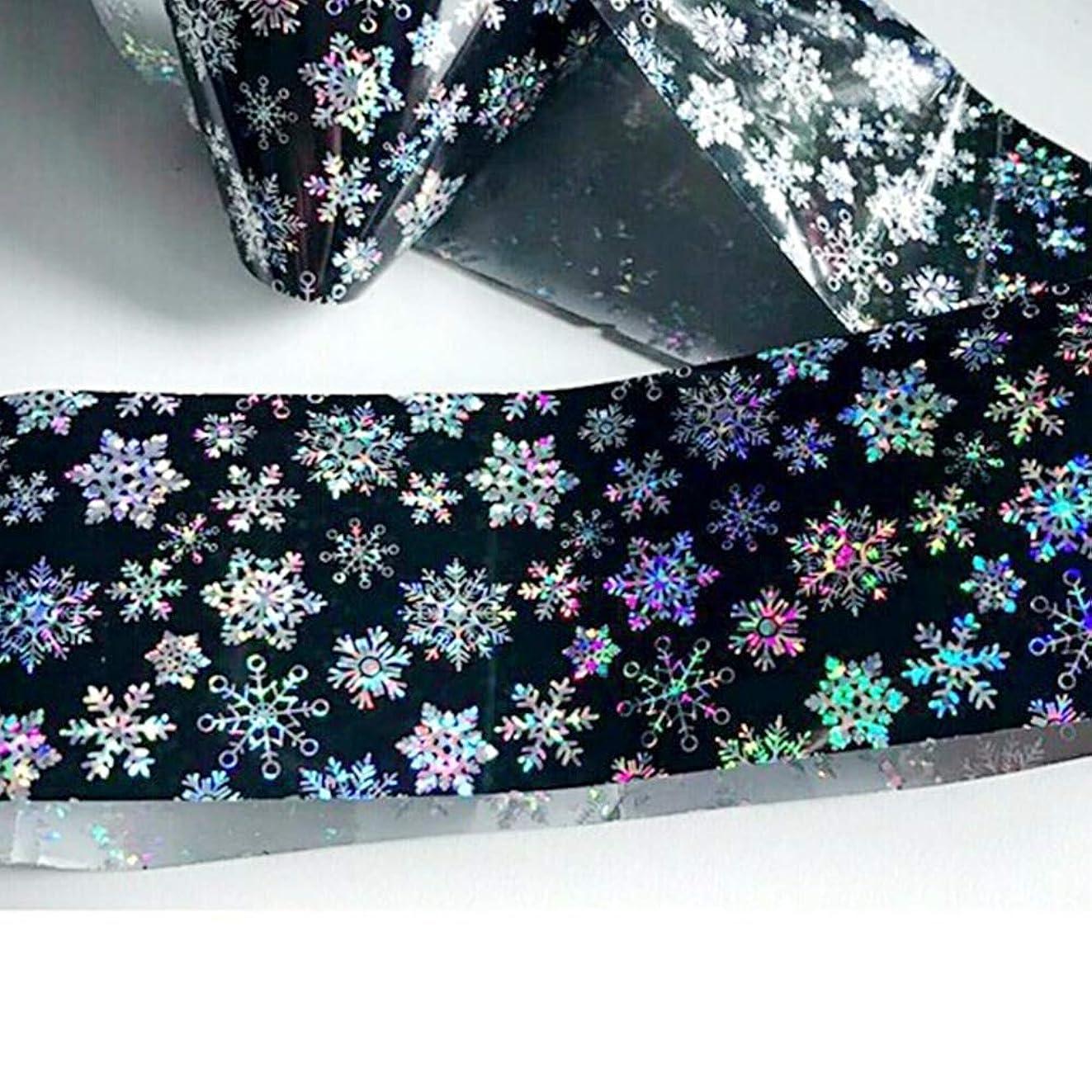 100センチ×4センチ輝くスノーフレークネイルアート転写箔ステッカー美容接着剤ポーランドラップネイルチップデコレーションSASTZXK79