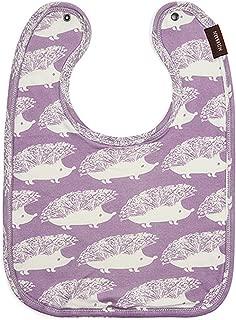 Milkbarn Organic Traditional Baby Bib (Purple Hedgehog)