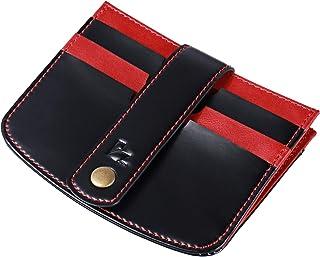 JISON21 Leather Credit Card Pocket Holder 3 Slots Wallet