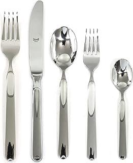 Mepra 102422020 Flatware Set, [20 Piece, Metallic Finish, Dishwasher Safe Cutlery