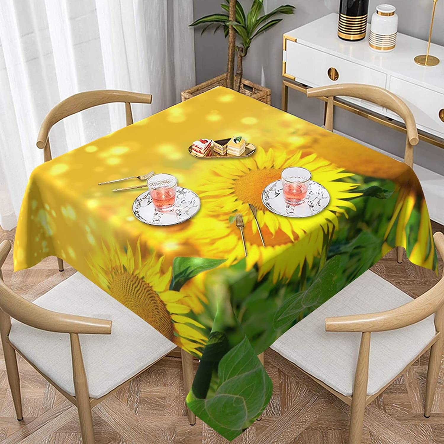 Vrkajzew Sunflower Field Printed Square spillproof Po Tablecloth Ranking TOP16 Special sale item