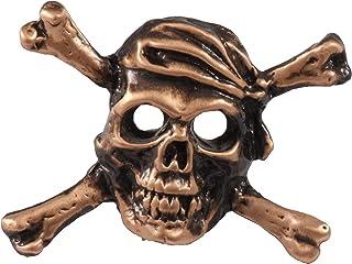 Creative Pewter Designs Cráneo y Crossbones, Pin chapado en cobre, AC167